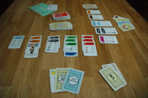 Three sets wins Monopoly Deal!