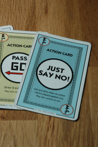 The Just Say No! card, Monopoly Deal's Cancel button